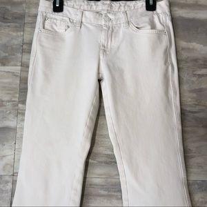 7 For All Mankind White Denim 'A Pocket' Jeans